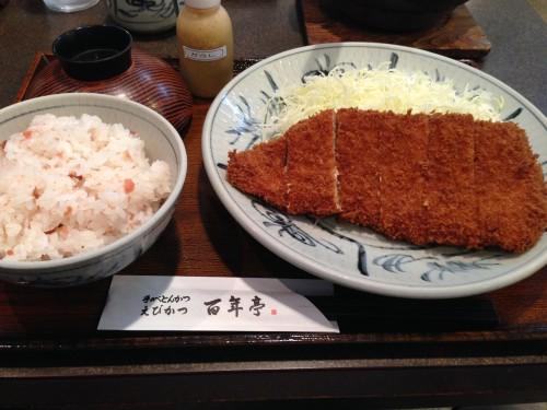 土鍋あさり汁とスジなしヒレかつ。 とんかつ百年亭 名古屋市天白区