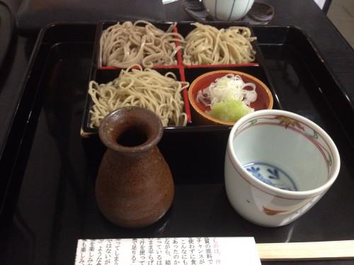 手打ち蕎麦の食べ比べ。 蕎麦まつも 岐阜県各務原市