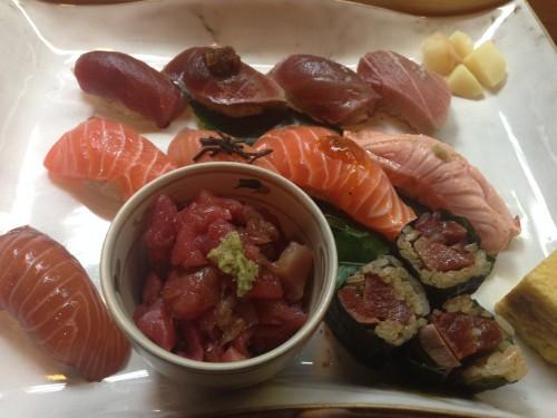 まぐろサーモンづくし。 明月寿司② 名古屋市中区