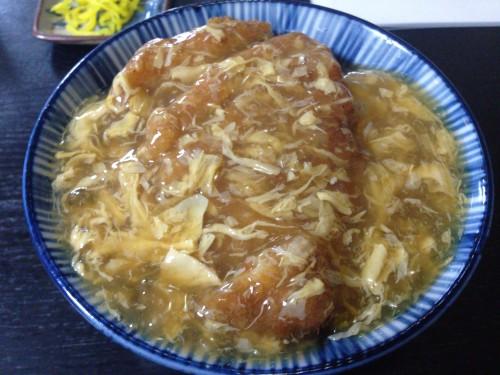 トロトロあんかけカツ丼。 加登屋食堂 岐阜県瑞浪市