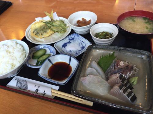 港直送の魚定食。 魚処 定吉 福井県敦賀市