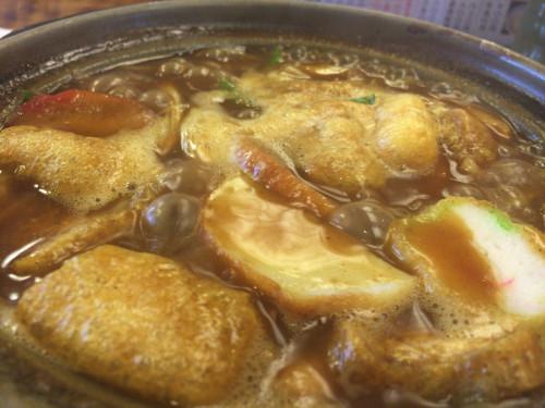極細麺のカレー煮込みうどん。 角丸 名古屋市東区