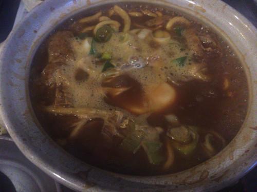 味噌煮込み蕎麦を食す。 七里庵③ 名古屋市西区