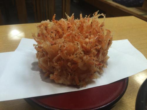 サクサク桜海老のかき揚げ 手打麺舗 丸一 名古屋市中区