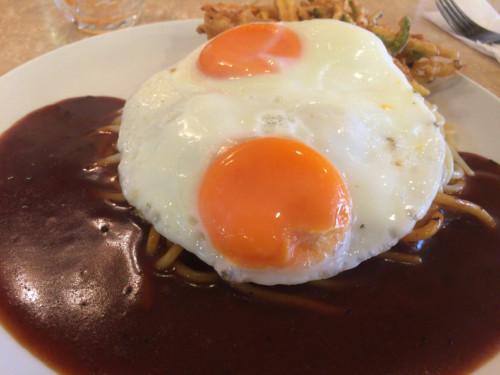 野菜天のあんかけスパ。 ナポリ 名古屋市東区
